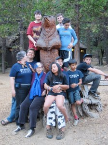 2010 Lair Oski the bear, family camp