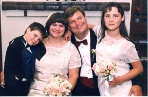 Paul Katy John Jessica wedding 4 July 2000