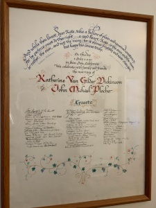 2000 Katy John wedding ketubah