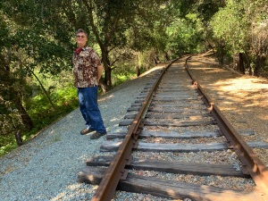Santa Cruz Big Trees and Pacific rail line, Felton 3 July 2020
