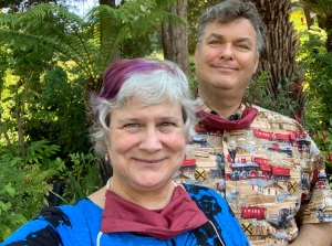 Katy and John at Shadowbrook restaurant Capitola 5 July 2020