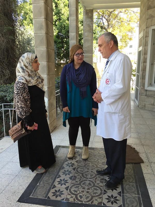 TechWomen at Al-Ahli Arab Hospital, Gaza City, Feb 2016