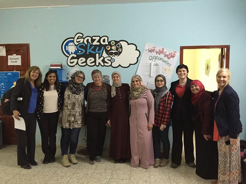 Gaza Sky Geeks with TechWomen, Feb 2016