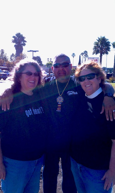 Daniel Vega Martinez 1969-2021, with Kathy and Peggy, from Peggy Bryan