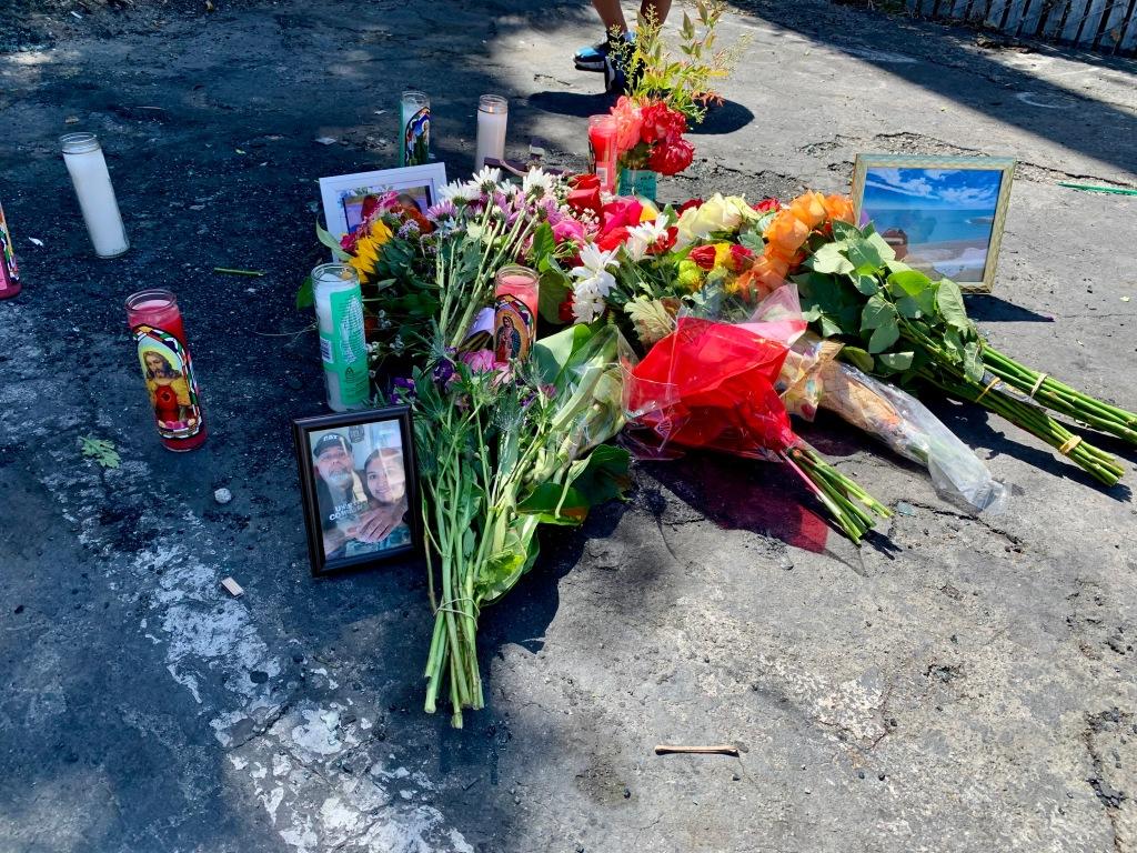 Daniel Vega Martinez 1969-2021, memorial flowers 2 May 2021