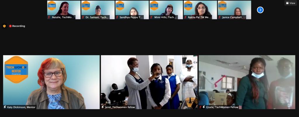 TechWomen Cameroon Delegation Screen Shot 2021-06-17
