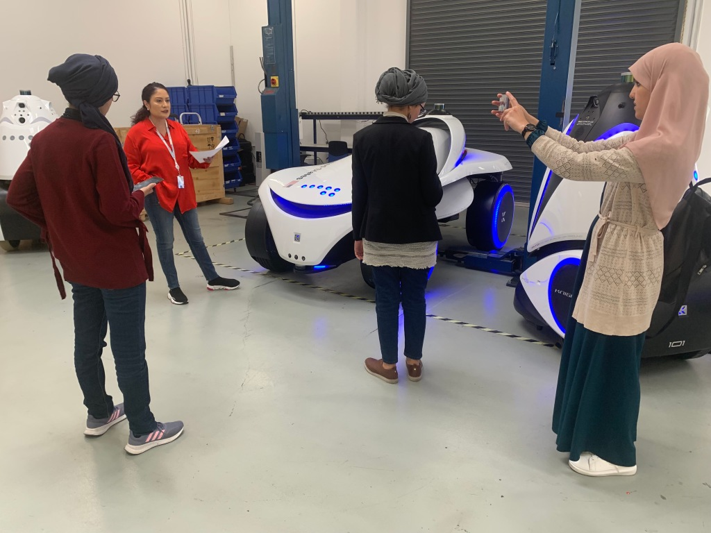 TechWomen Team Algeria, at Knightscope Oct 2019